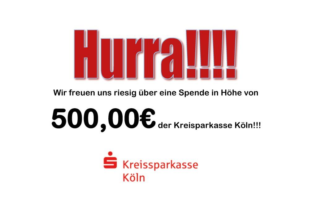 Wir freuen uns riesig über eine Spende in Höhe von 500